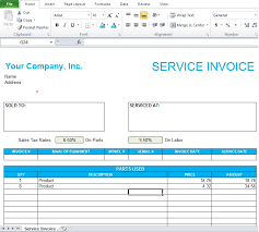 Service Invoice Template Excel Professional Service Invoice Template Excel Excel Tmp