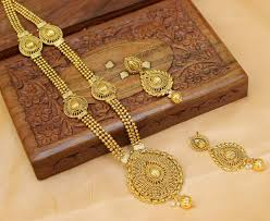 long gold necklace sets images Buy gorgeous gold plated long necklace set online jpg
