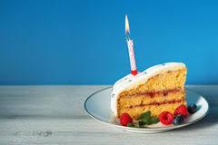 Birthday Cake With Cream Fresh Fruit And Berries Slide Stock