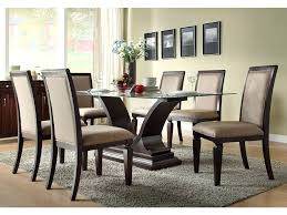 Dining Table  Round Glass Dining Table And Wicker Chairs Round - Dining room sets round