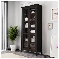 hemnes glass door cabinet white stain ikea