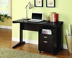 Computer Desk Sets Amazon Com Coaster Home Furnishings Casual Desk Set Cappuccino