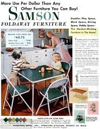 card tables u0026 folding furniture from the fifties click americana