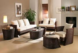 Rattan Living Room Furniture Modern Interior Decorating With Synthetic Wicker Furniture