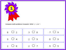 compare math worksheets for prek k 8 schools free math games