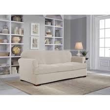 Sofa Slipcovers With Separate Cushion Covers by Serta Stretch Grid Slipcover Sofa 2 Piece T Cushion Walmart Com
