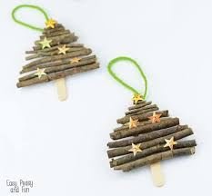popsicle stick and twigs tree ornaments easy peasy and