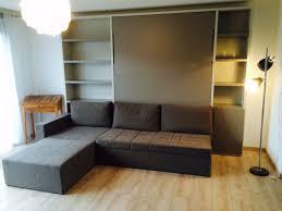 lit escamotable canapé cubo avec rangement modulance