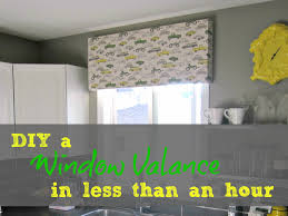 Fabric Covered Wood Valance A Swell Place To Dwell Kitchen Valance