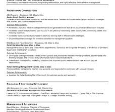 Banking Sample Resume by Download Banking Resume Examples Haadyaooverbayresort Com