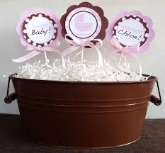 brown and pink baby shower decorations best baby decoration