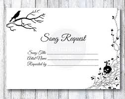 wedding song request cards autumn leaves wedding song request card by smatsprintablecafe
