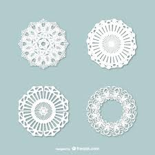 vintage lace ornaments pack vector free
