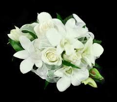 white wrist corsage wrist corsage all white in ogden ut jimmy s flowers