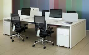 Bench Desking Nova Office Bench Desk White Desks Tag For New Property 4 Person