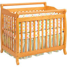 Baby Mod Mini Crib Baby Mod 2 In 1 Convertible Mini Crib Honey Oak Walmart