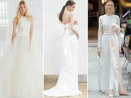Wedding Dresses With Bows Spring 2018 Bridal Fashion Week Wedding Dress Trends