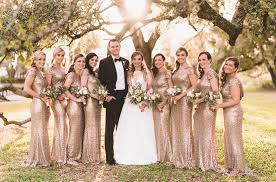 metallic gold bridesmaid dresses frasier