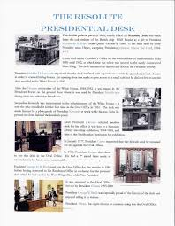 Oval Office Renovation Our Reproduction Of The President U0027s Resolute Desk Inthe Oval