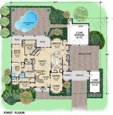 House Plans Courtyard Westchester Courtyard House Plan House Plan Designer