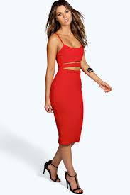 cut out dresses strappy cut out midi dress boohoo