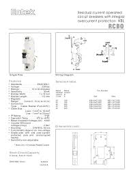 entek miniature circuit breakers mcbs and rcbos rcd mcb