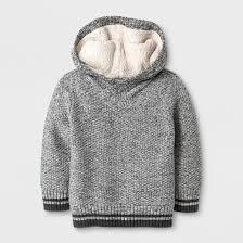 toddler boys sherpa hoodie sweater cat gray target