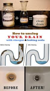 clogged bathroom sink baking soda vinegar how to unclog your drain with vinegar and baking soda