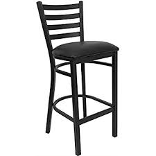 Bar Stool With Back Flash Furniture Hercules Series Black Ladder Back