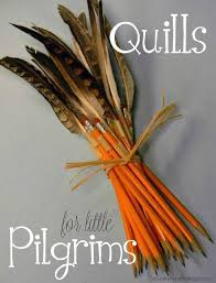 quill pencils 20 pilgrim crafts for this thanksgiving