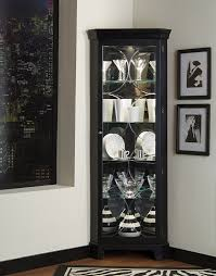 amazon com pulaski corner curio 27 by 15 by 74 inch black
