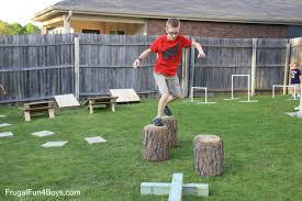 How To Build A Wooden Playset Diy American Ninja Warrior Backyard Obstacle Course