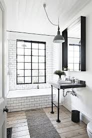 Bathroom Wood Floors - 10 chic black and white bathroom ideas