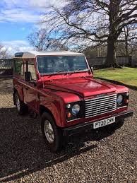 red land rover defender land rover defender 90 300tdi county station wagon 7 seats in