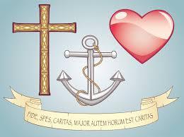 Items Similar To Love Anchors - vector clipart set symbols faith hope love parchment scroll