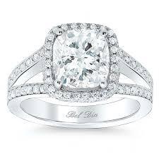 cushion halo engagement rings cushion halo engagement ring with shank