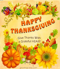 happy thanksgiving day give thanks with a grateful greetings
