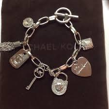 charm bracelet chain silver images 82 off michael kors jewelry michael kors silver tone 7 charm jpg