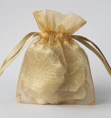 100 gold organza bags sheer favor bags organza jewelry bags