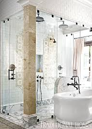 dramatic showhouse bathroom traditional home