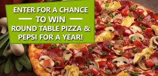 free round table pizza win a free round table pizza and pepsi