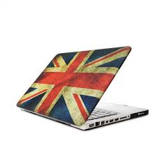 Triangle Flag Case Uk British Flag Glossy Crystal Hard Case Cover For Macbook Pro 13 Inch