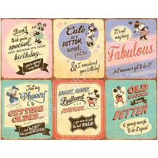 disney gee whizz vintage look birthday card mickey minnie mouse