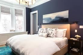 Beige Bedroom Walls Design Ideas - Dark blue bedroom design