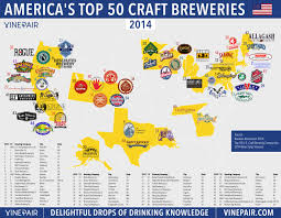 San Diego State Map by Map The Top 50 U S Craft Breweries In 2014 Vinepair