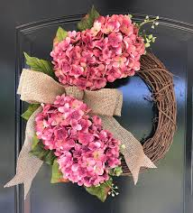 hydrangea wreath hydrangeas hydrangea wreath grace home