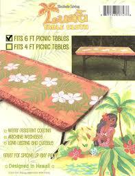 6 Foot Fitted Tablecloth Hawaiian Table Cloth Hawaiian Pring Table Cloth