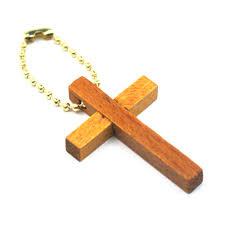 wooden key chain cross keychains