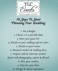 things to plan for a wedding venue tlcevents