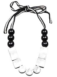 resin beaded necklace images Lyst marni resin bead necklace in white jpeg